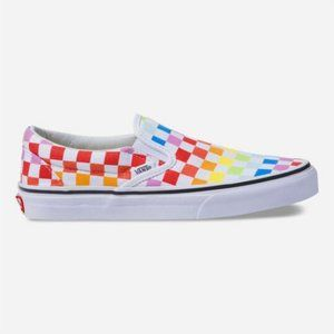 Brand New Vans Checkerboard Rainbow Slip on's